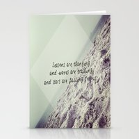 Seasons are changing and waves are crashing and stars are falling for us. Stationery Cards