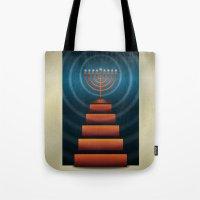 Art Deco Hanukkah Menorah Tote Bag