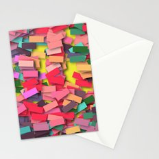 pink colored bricks Stationery Cards