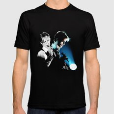 BOWIE 2 Mens Fitted Tee Black SMALL