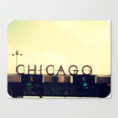 Chicago Skyway ~ Vintage Mid-Century Tollbridge Sign Canvas Print