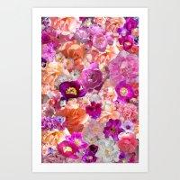 Peonies Tulips & Roses Art Print