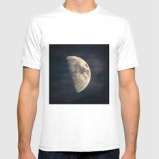 half moon Mens Fitted Tee White SMALL