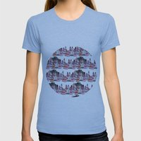Bear and macaroons!  Womens Fitted Tee Athletic Blue SMALL