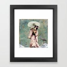 Japanese snow queen Framed Art Print