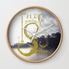 This Trend Shall Pass Wall Clock