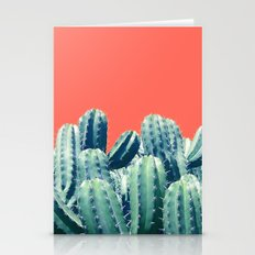 Cactus on Coral #society6 #decor #buyart Stationery Cards