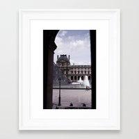 Peek Out the Louvre (Photo) Framed Art Print