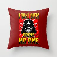 Throw Pillow featuring Don't Take No Sith!  |  … by Silvio Ledbetter