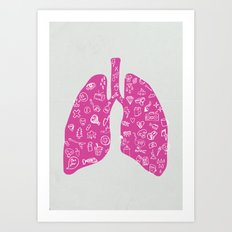 In My Lungs Art Print