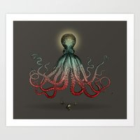 Octoverlord Art Print