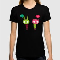 Little Friends Womens Fitted Tee Black SMALL