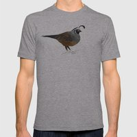 Quail Mens Fitted Tee Athletic Grey SMALL