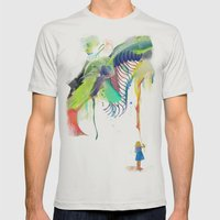 Azalia Mens Fitted Tee Silver SMALL