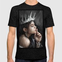 Queen Of Secrets  Mens Fitted Tee Tri-Black SMALL