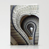Staircase to Prague Stationery Cards