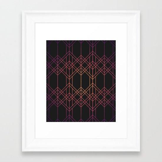 Gradient Pattern Framed Art Print