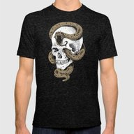 The Dark Mark Of You-Kno… Mens Fitted Tee Tri-Black SMALL