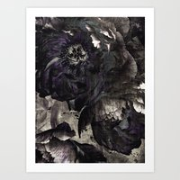 goth peony Art Print