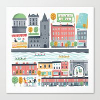 Dublin City Canvas Print
