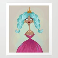 Princess Whimsy  Art Print