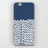 Half Knit Navy iPhone & iPod Skin