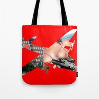 Bomber Mix Red Tote Bag