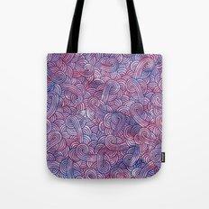 Purple swirls doodles Tote Bag