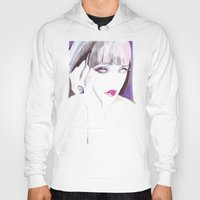 Fashion illustration in watercolors and ink Hoody