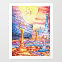 The Land of Giant Bubbles Art Print