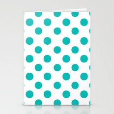Polka Dots (Tiffany Blue/White) Stationery Cards