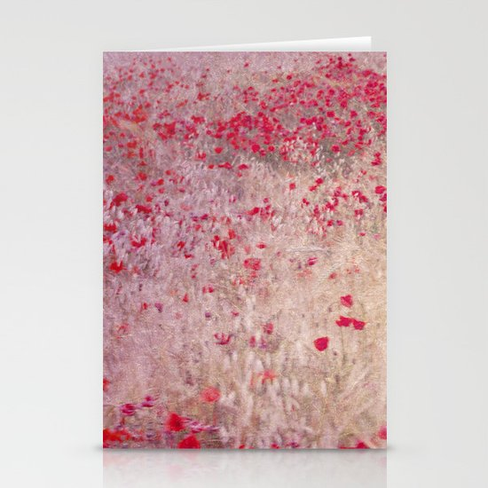 Fields of poppies Stationery Card