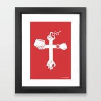 Sign of the Cross Framed Art Print
