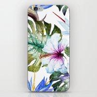Watercolor Tropical Hibiscus iPhone & iPod Skin