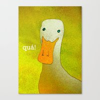 White Duck! Canvas Print