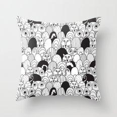 CatZ & OwlZ Throw Pillow