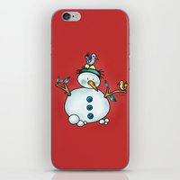 Snowman {Friendly - Red} iPhone & iPod Skin