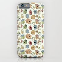 iPhone & iPod Case featuring Bird Boxes by Katie L Allen