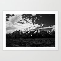 Grand Tetons  Art Print