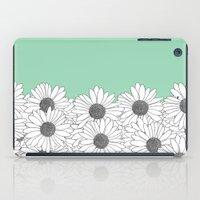 Daisy Boarder Mint iPad Case