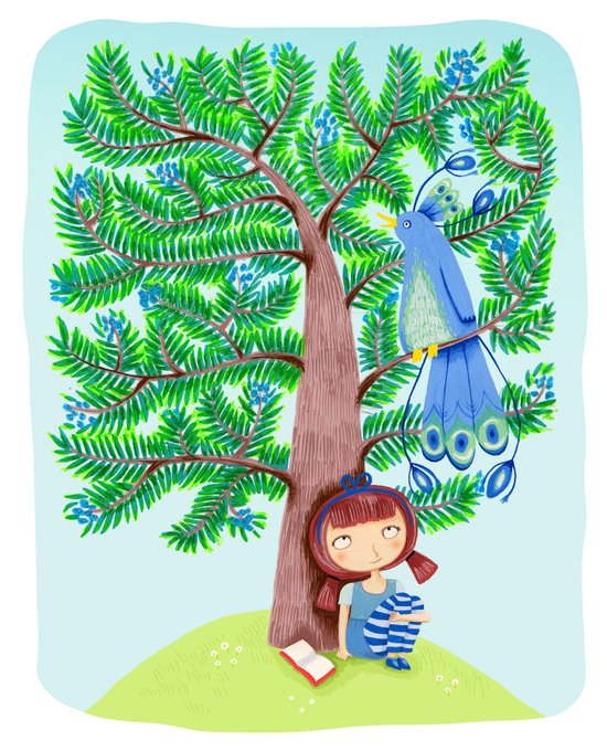 The Juniper Tree  Art Print