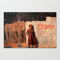 Ebony Love Canvas Print