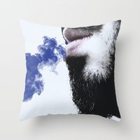 Sir Blue Smoke Throw Pillow
