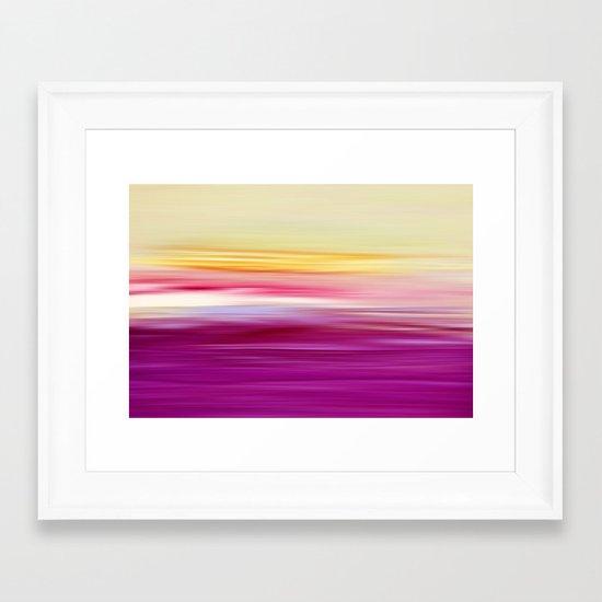 abstract sundown Framed Art Print