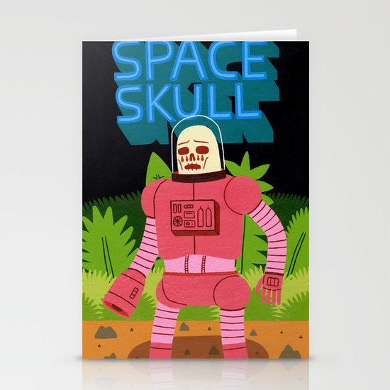 Space Skull Stationery Card