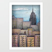 NYC Looking Uptown Art Print