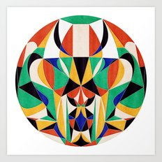 Describe Yourself in 5 Colors Art Print