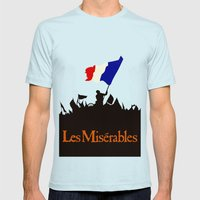 Les Miserables Mens Fitted Tee Light Blue SMALL