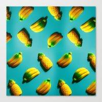 Ananas 'N Bananas Canvas Print