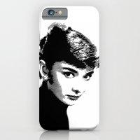 Audrey Hepburn Black and white iPhone 6 Slim Case